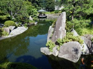 目白庭園の昼間の風景