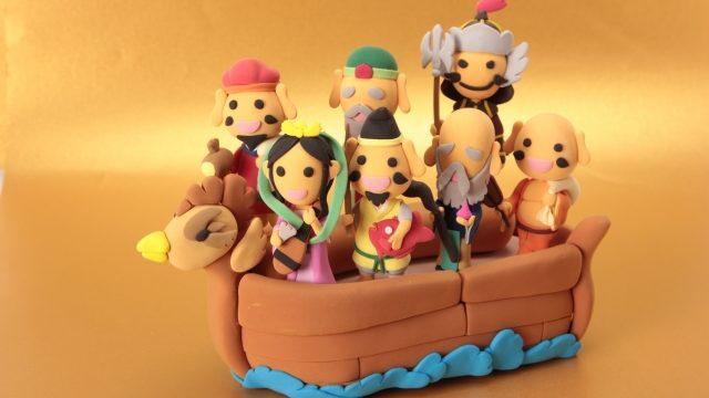 宝船に乗る七福神
