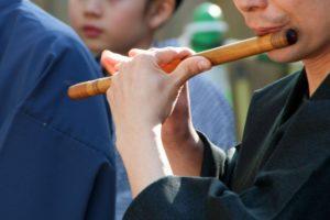 お囃子の笛