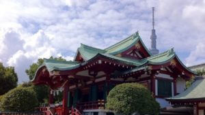 亀戸天神社とスカイツリー