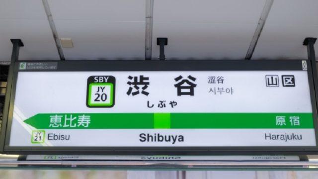 渋谷駅の看板