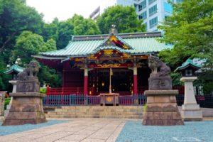 渋谷の金王八幡宮
